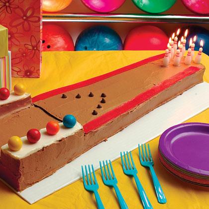 Bowling Lane Cake