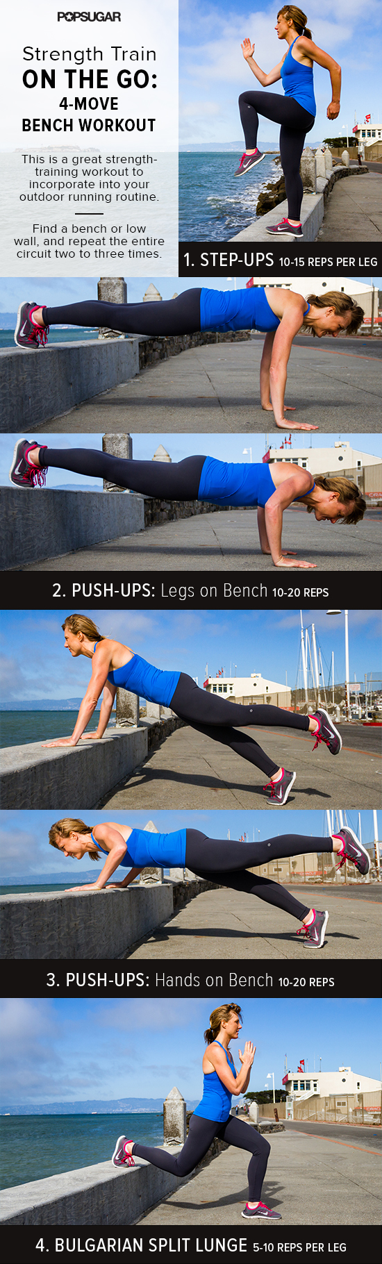 This Short And Sweet Outdoor Bench Workout Is Perfect For A Postrun Strength Training Session