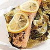 Easy Parchment Paper Baked Salmon and Greens Recipe