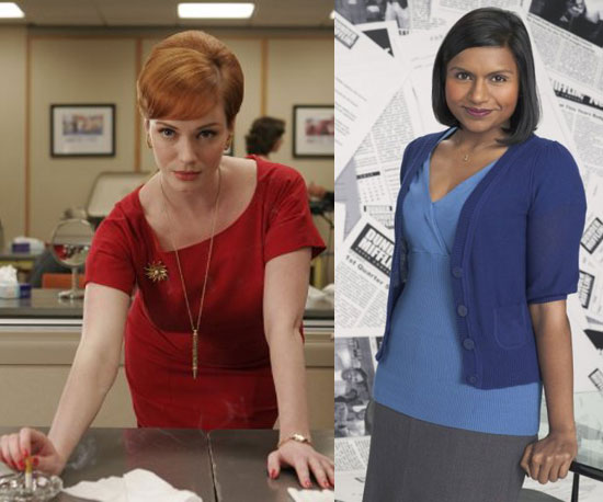Joan Holloway = Kelly Kapoor