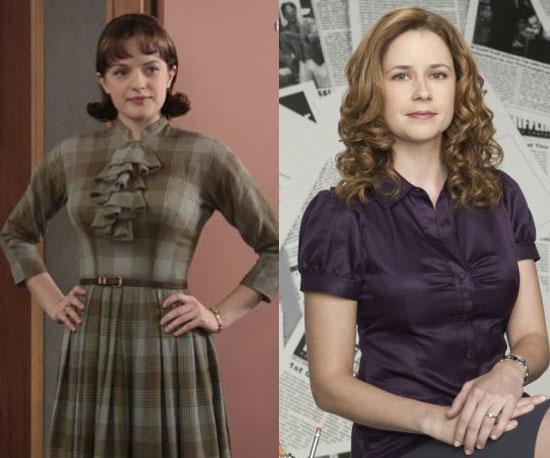 Peggy Olson = Pam Beesly-Halpert