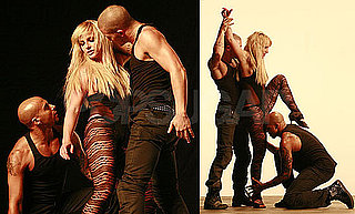 "Photos of Britney Spears Filming a Video For Her Single ""3"""