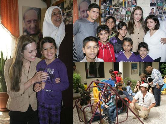 Photos of Angelina and Brad in Jordan
