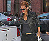 Slide Photo of Rihanna in NYC with blond hair