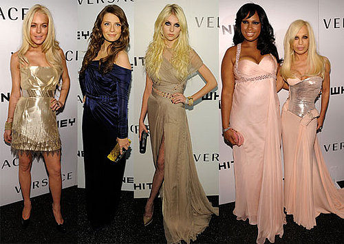 Photos of Lindsay Lohan, Mischa Barton, Jennifer Hudson and Taylor Momsen at Donatella Versace's Party at the Whitney 2009-10-20 11:30:08