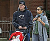 Slide Photo of Matt Damon with Luciana and Gia in Boston