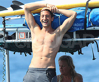 Slide Photo of Adrien Brody Shirtless in Hawaii
