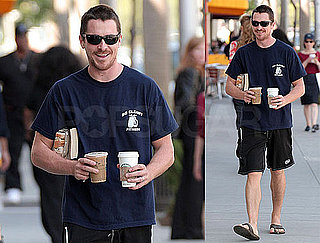Photos of Christian Bale Stopping to Grab Coffee and a Snack in LA