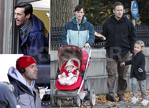 Photos of Ben Affleck, Rebecca Hall, and Jon Hamm Filming The Town and Jennifer Garner With Violet and Seraphina Affleck