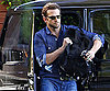 Slide Photo of Bradley Cooper Getting Out of His Car in LA