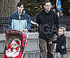 Slide Photo of Jennifer Garner and Violet and Seraphina Affleck Walking in Boston