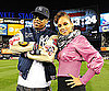 Photo Slide of Jay-Z and Alicia Keys at the World Series