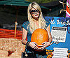 Slide of Paris Hilton Visiting Mr. Bones Pumpkin Patch in LA