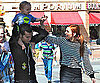 Photo Slide of Ashlee Simpson, Pete Wentz, and Bronx at Disneyland