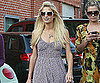 Slide Photo of Paris Hilton Wearing Dress in LA