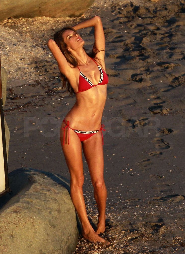Photos of Alessandra Ambrosio in a Bikini for Victoria's Secret