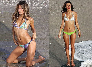 Alessandra Ambrosio Models a Purple Bikini For Victoria's Secret Photo Shoot