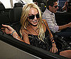 Slide Photo of Lindsay Lohan In A Car Smiling