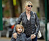 Slide Photo of Michelle Williams and Matilda Ledger Walking to SChool in NYC