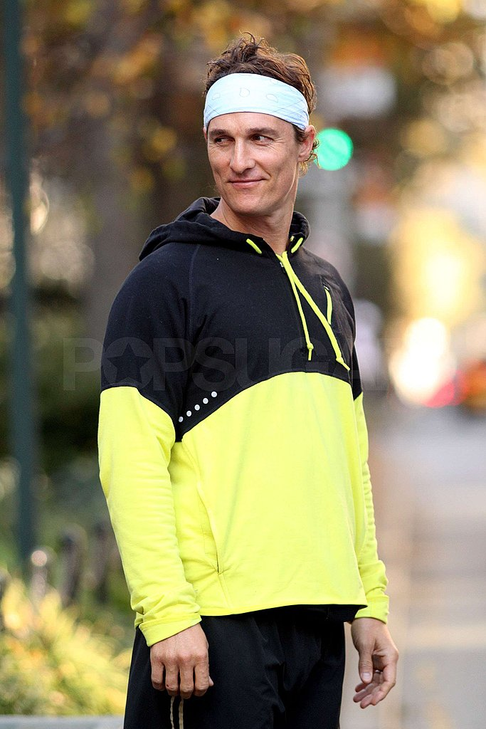 Photos of Matthew McConaughey Running in NYC