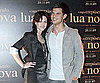 Slide Photo of Kristen Stewart and Taylor Lautner in Brazil at New Moon Photocall