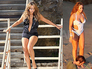 Mariah Carey Bikini Photos At A Shoot in Malibu