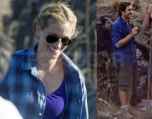 Photos of Julia Roberts and Javier Bardem Filming Eat, Pray, Love