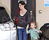 Slide Photo of Jennifer Garner and Violet Affleck Leaving School in LA 2009-11-04 15:45:51
