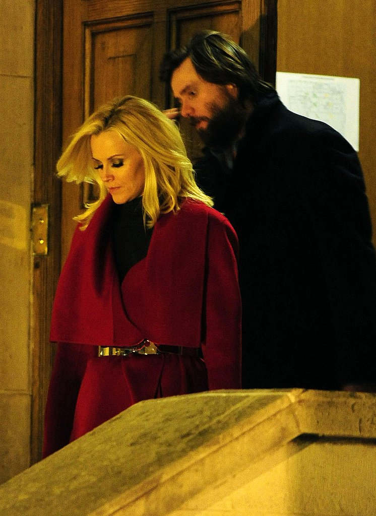 Photos of Jim Carrey and Jenny McCarthy in the UK for the Premiere of A Christmas Carol