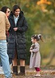 Photos of Katie Holmes and Suri Cruise on Set