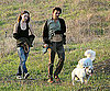 Photo Slide of Olivia Wilde And Tao Ruspoli Walking Their Dogs in LA