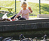 Slide Photo of Violet Affleck Feeding Ducks In LA