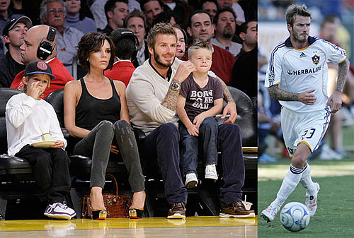 Photos of David and Victoria Beckham at Lakers Games And a Galaxy Game in LA 2009-11-02 11:00:25