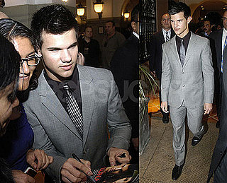 Photos of Taylor Lautner Promoting New Moon in Mexico
