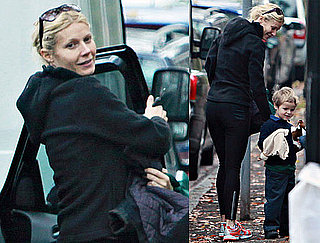 Photos of Gwyneth Paltrow Bringing Moses Martin to School in London