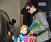 Slide Photo of Jennifer Garner Picking Up Violet Affleck From School in LA