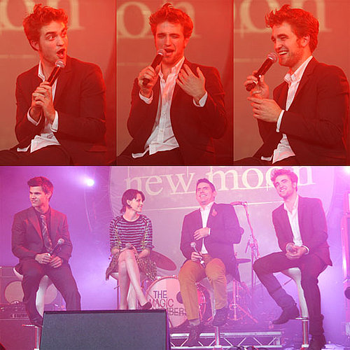 Photos of Robert Pattinson, Kristen Stewart, Taylor Lautner And Chris Weitz Promoting New Moon in London