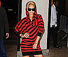 Slide Photo of Rihanna Wearing Stripes Leaving Alexa Chung in NYC