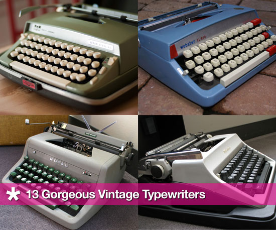 Retro Chic: 13 Gorgeous Vintage Typewriters