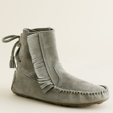 J.Crew Sienna Fringed Moccasin Booties