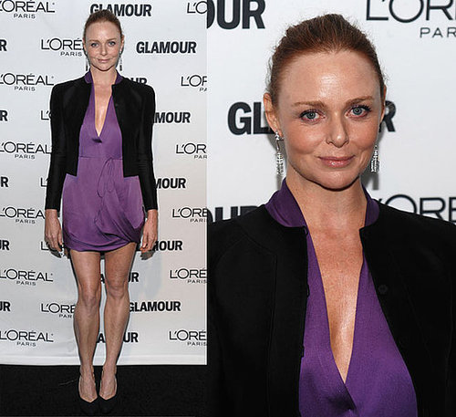 Stella McCartney Attends 2009 Women of the Year Awards in Purple Dress and Black Blazer 2009-11-10 11:00:22