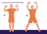 Jumping Jacks With Shoulder Press