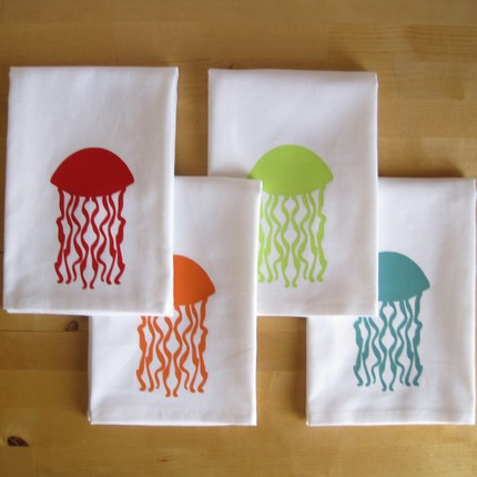 These Jellyfish Tea Towels ($38 for a set of 4) come in bright, fun colors to pep up your kitchen.
