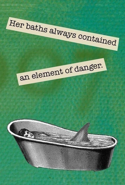 Bathe on the wild side with this shark-infested Dangerous Baths Magnet ($4.25).