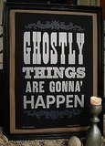 Let everyone know what's on the agenda this evening with this Ghostly Things Letterpress Poster ($20).