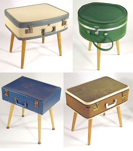 Learn how to turn vintage suitcases into side tables on Curbly.