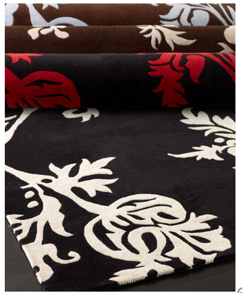 A larger interpretation of a classic floral motif brings this Serephina Rug ($229 and up) into the 21st century.