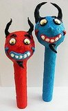 This Set of 2 Halloween Folk Art Devils ($17) are so cheerful looking, they're practically angelic!