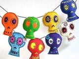 This Large Brightly Colored Skull Garland ($65) is whimsical and as lively as any skulls can be!