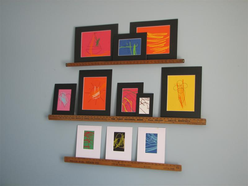 Flea Market Style shows you how to turn yardsticks into wall shelves.